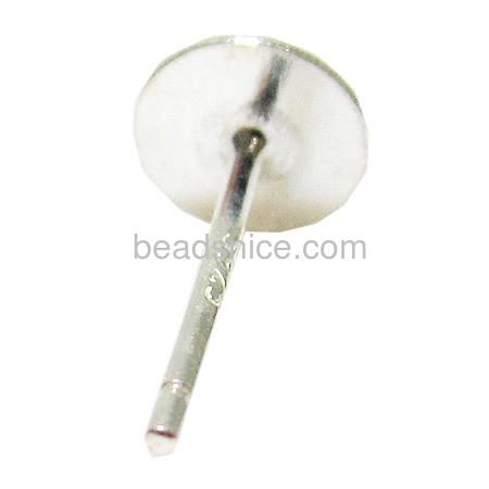 925 silver earring base