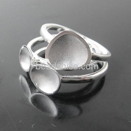 Wholesale new style handmade sterling silver triple mushroom rings