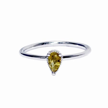 Sparkling pink tourmaline sterling silver ring