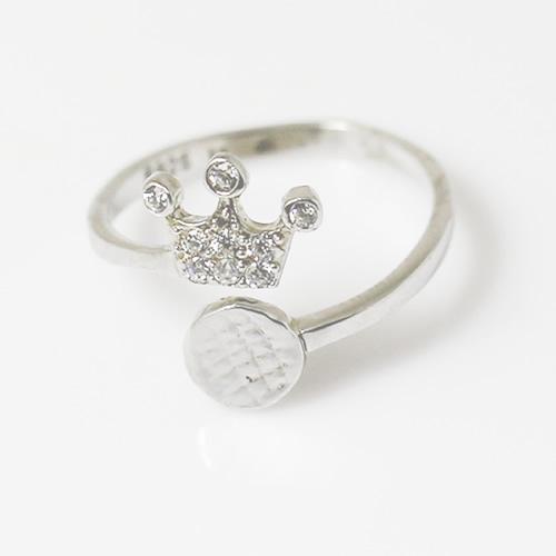 Ring base sterling silver Ring base crown pad diameter 6mm adjustable ring size 4 12.5mm