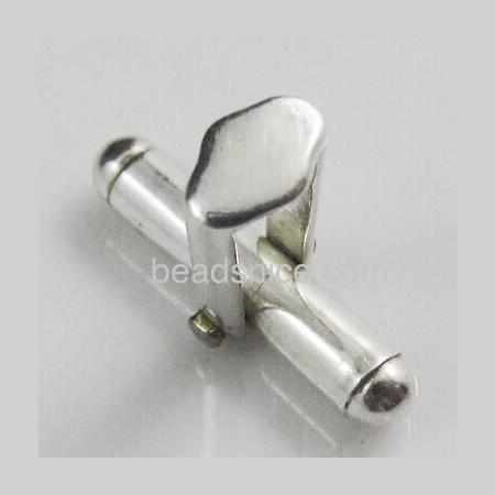 Solid sterling 925 silver mens cufflink backs