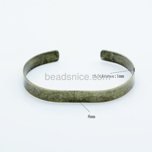 Brass cuff bracelet base blanks DIY unique jewelry bangle