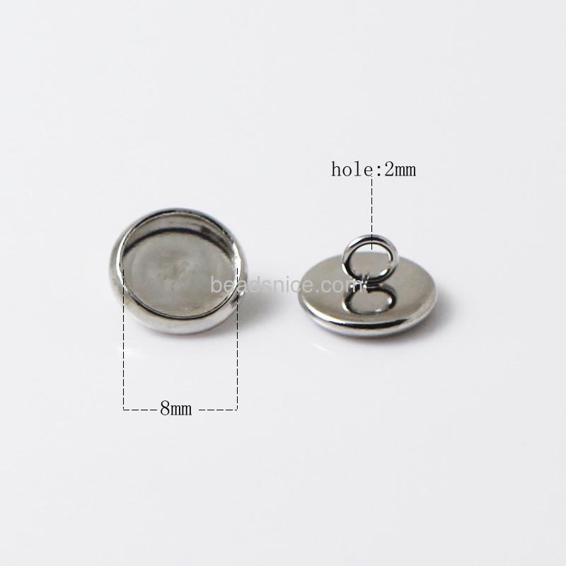 Button jewelry,round,lead-safe,nickel-free,
