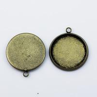 Pendant pad Base Jewelry Pendant findings Brass Nickel-Free Lead-Safe super shiny