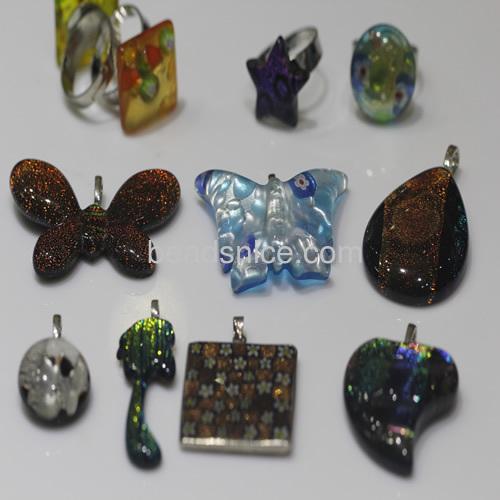 Sale Glass jewelry pendant