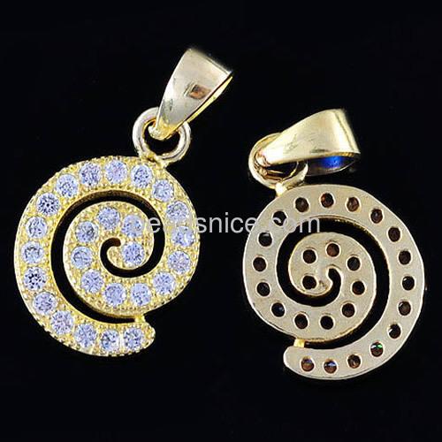 Wholesale fashion snail pendants charms personalized micro pave fashion snail pendants charms personalized micro pave cubic zirconia wholesale jewelry pendant making supplies brass diy aloadofball Choice Image
