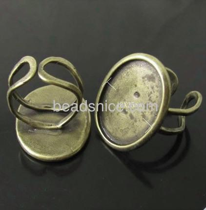 Brass bezel,size:8 ,lead-safe,nickel-free,oval