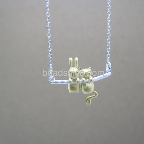 wholesale animal pendant necklace childhood friendship wholesale