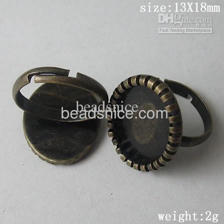 Brass Bezel Ring Settings,size:7 ,lead-safe,nickel-free,round,