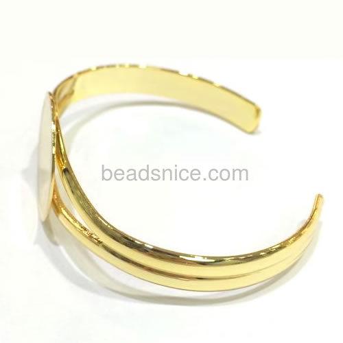 Brass Bracelet,Nickel-Free,Lead-Safe,