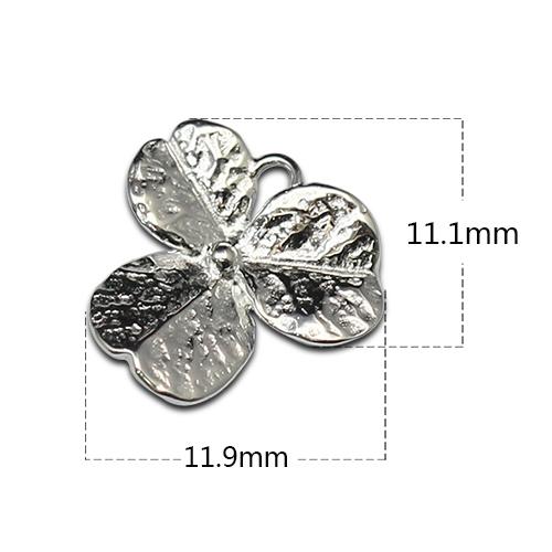 Three leaf flower Big Size pendant Charm