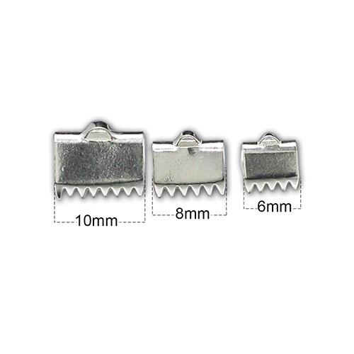 Pure Silver Belt Clip, Bracelet End Clips Vest Buckle Clips