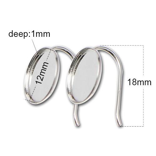 Sterling Silver earring hook French earrings cabochon blanks tray wholesale earrings