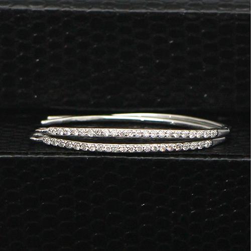 925 Sterling Silver Cz Crystal Drop Ear Wire Earwire Hook Earring