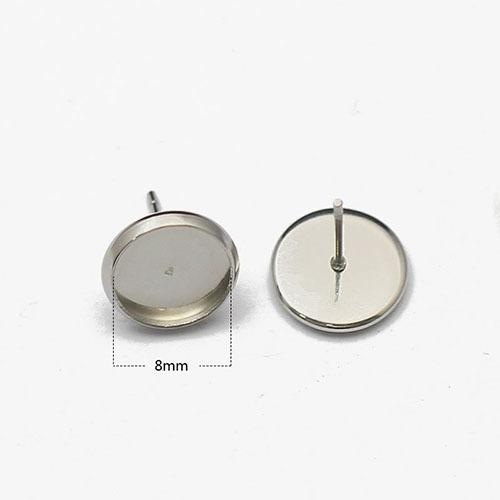 316 Stainless Steel Stud/Post earrings settings