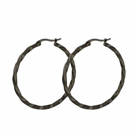 Stainless Steel Simple Twist Ear Hoop Earrings