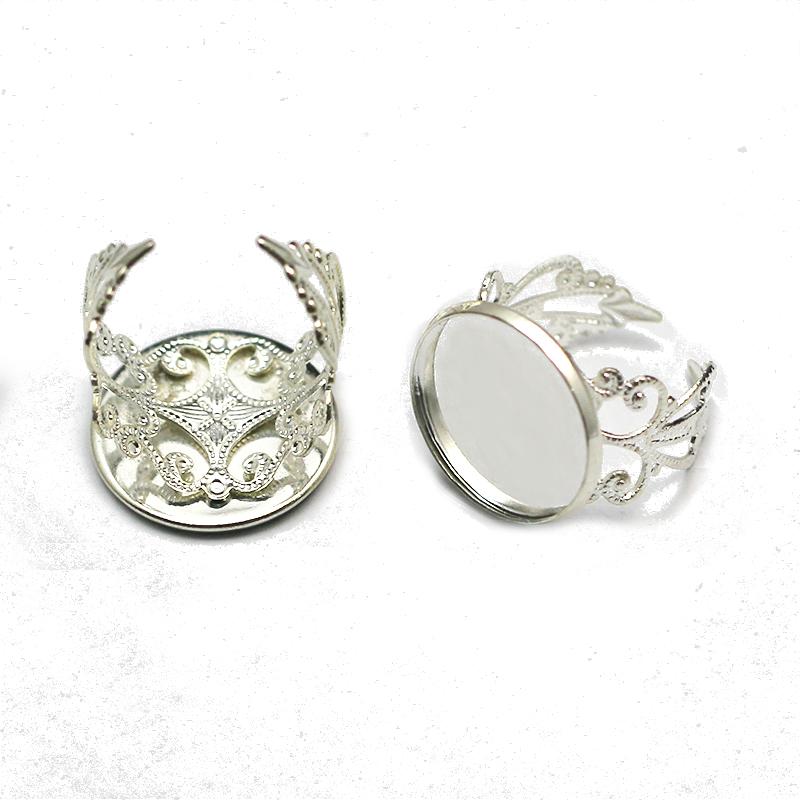 brass finger ring settings,round