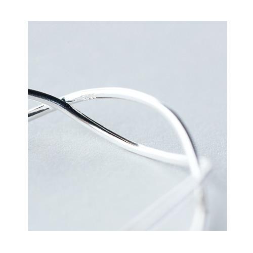 925 Sterling Silver Double Line Fashion Bracelet