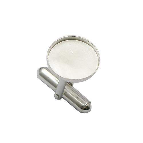 925 Sterling Silver Tie Bar Round Base