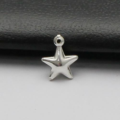 925 Sterling Sliver Pentagram Pendant Ball