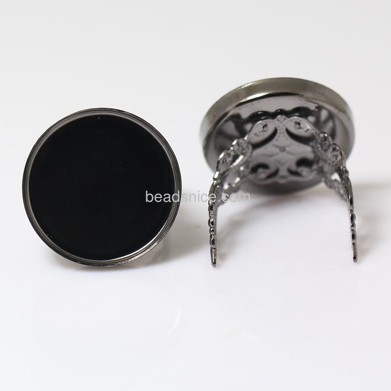 Brass Filigree Ring Base,