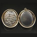 Brass Pendant, Album box, Oval, 35x25mm,inside diameter 27.2x17.1mm,Nickel free, Hole:Approx 2MM,