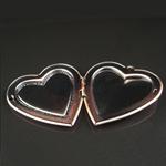 Brass Pendant, Album box, Heart, 42.5x39.6mm,inside diameter 29.5x26.8mm,Nickel free, Hole:Approx 2.5MM,