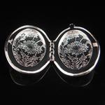 Brass Pendant, Album box, Oval,gun metal, 38x27mm,inside diameter 29x17.8mm,Nickel free, Hole:Approx 2.2MM,