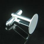 Jewelry  cufflink blanks, brass,fit 20mm,Nickel free ,Handmade Plated,