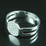 Jewelry Iron ring base,Adjustable,for design,nickel free,lead safe,base diameter:8x7.5mm,inside diameter:17mm,