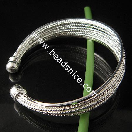 Jewelry brass bracelet,inside diameter:55mm,11 Line,nickel free,lead safe,