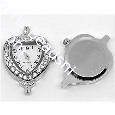 Heart shape steel watch